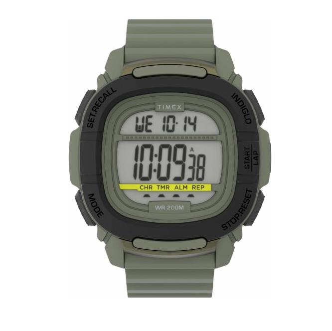 Timex Mens Army Green Digital Watch