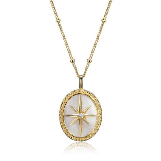 Elle Yellow Plated .925 Mother of Pearl Pendant