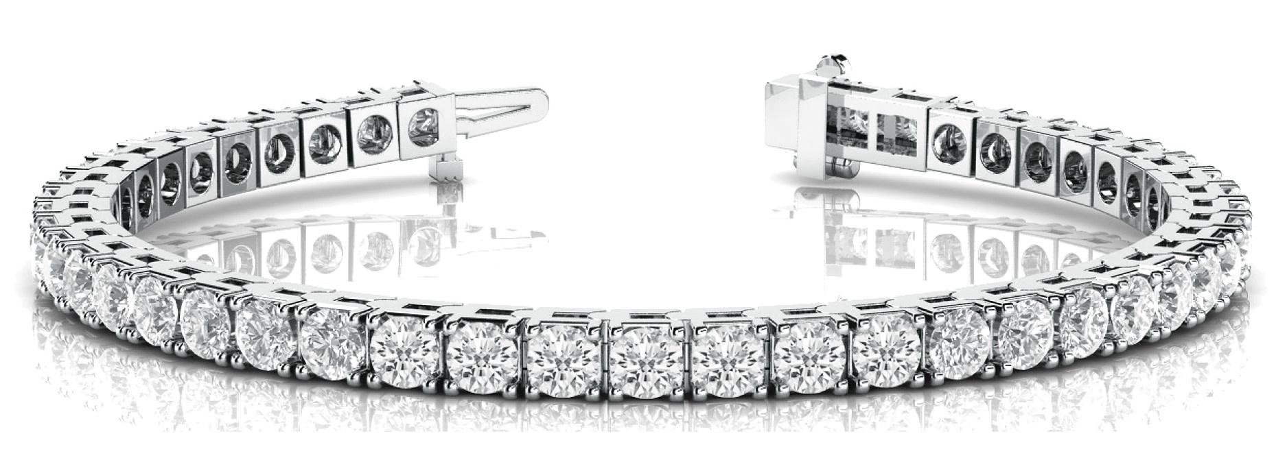 14KW Lab Grown 5.00CTTW Diamond Tennis Bracelet
