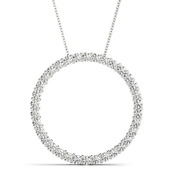 14KW 1/2CT Circle LG Diamond Slide Pendant