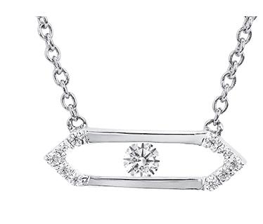 .925 Sliding Diamond Bar Pendant 0.11CT