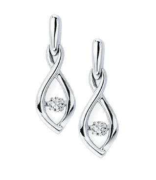 .925 Shimmering Diamond  Earrings
