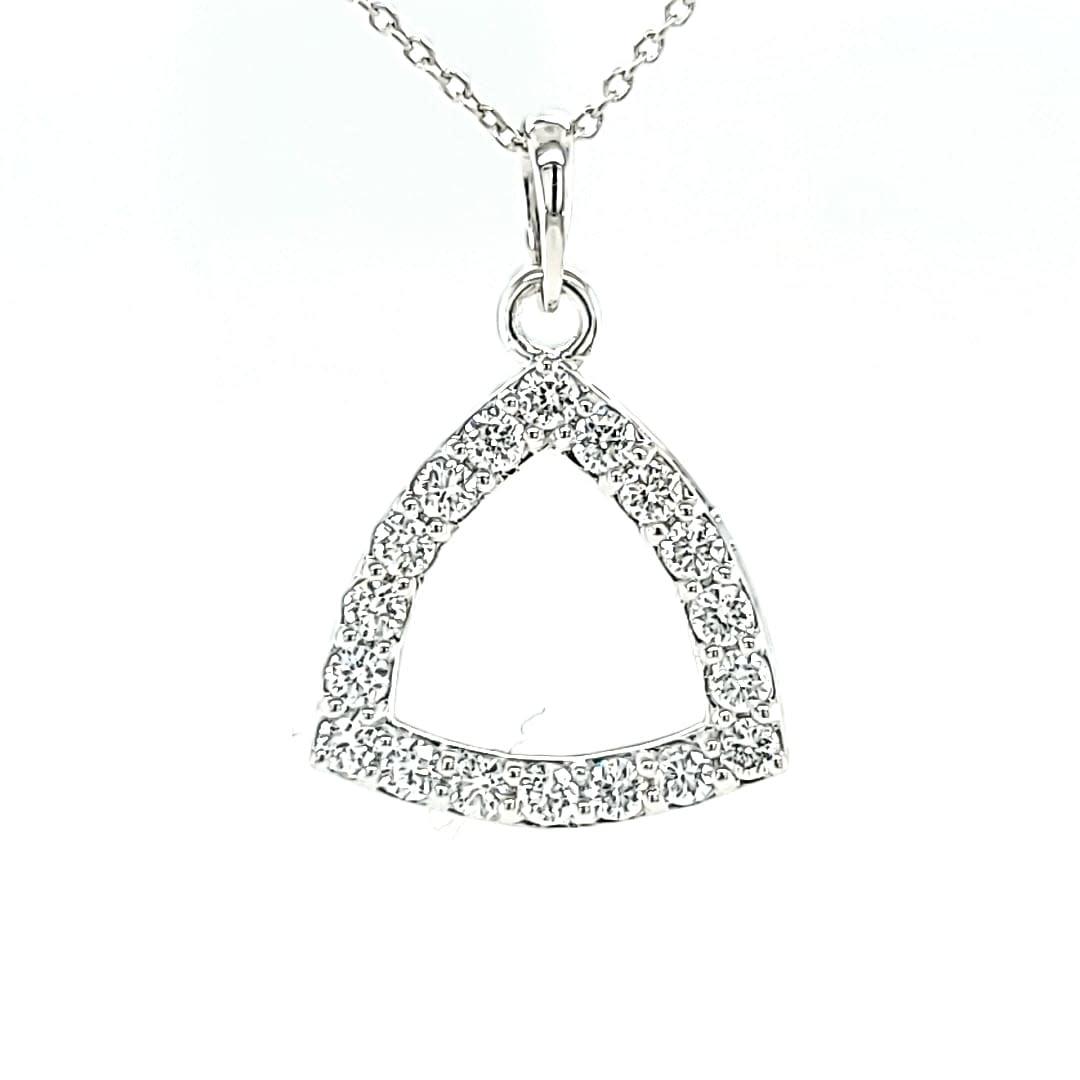 14KW Lab Grown Diamond Triangle Pendant .55TW
