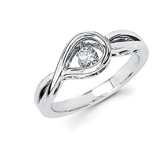 .925 .03 Shimmering Diamond Ring