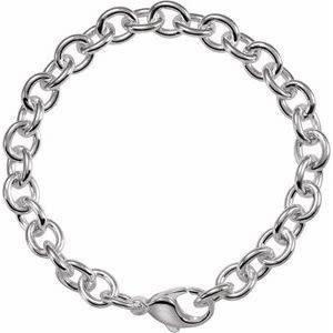 ".925 Charm Bracelet 8.5"""