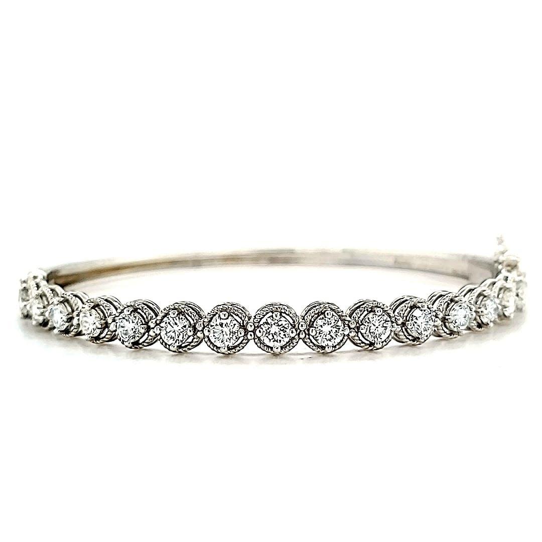 14KW Diamond Bangle 1.87CTTW