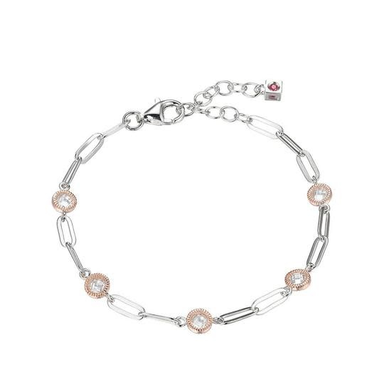 Elle .925 Paperclip CZ Bubble Bracelet