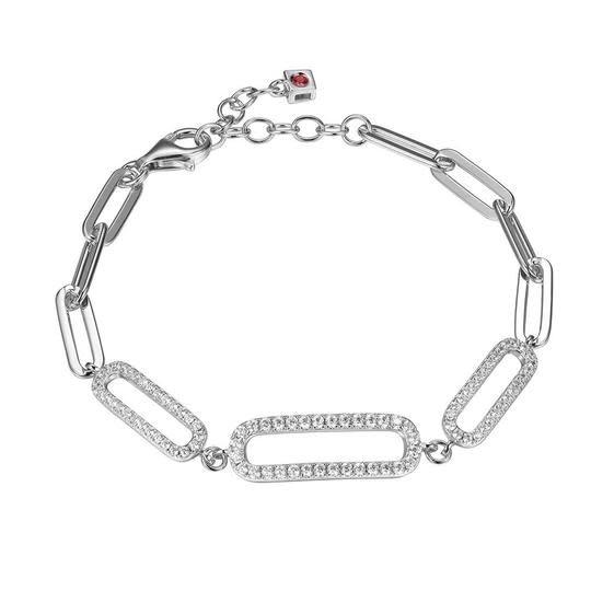 Elle .925 Paperclip Cubic Zirconia Bracelet