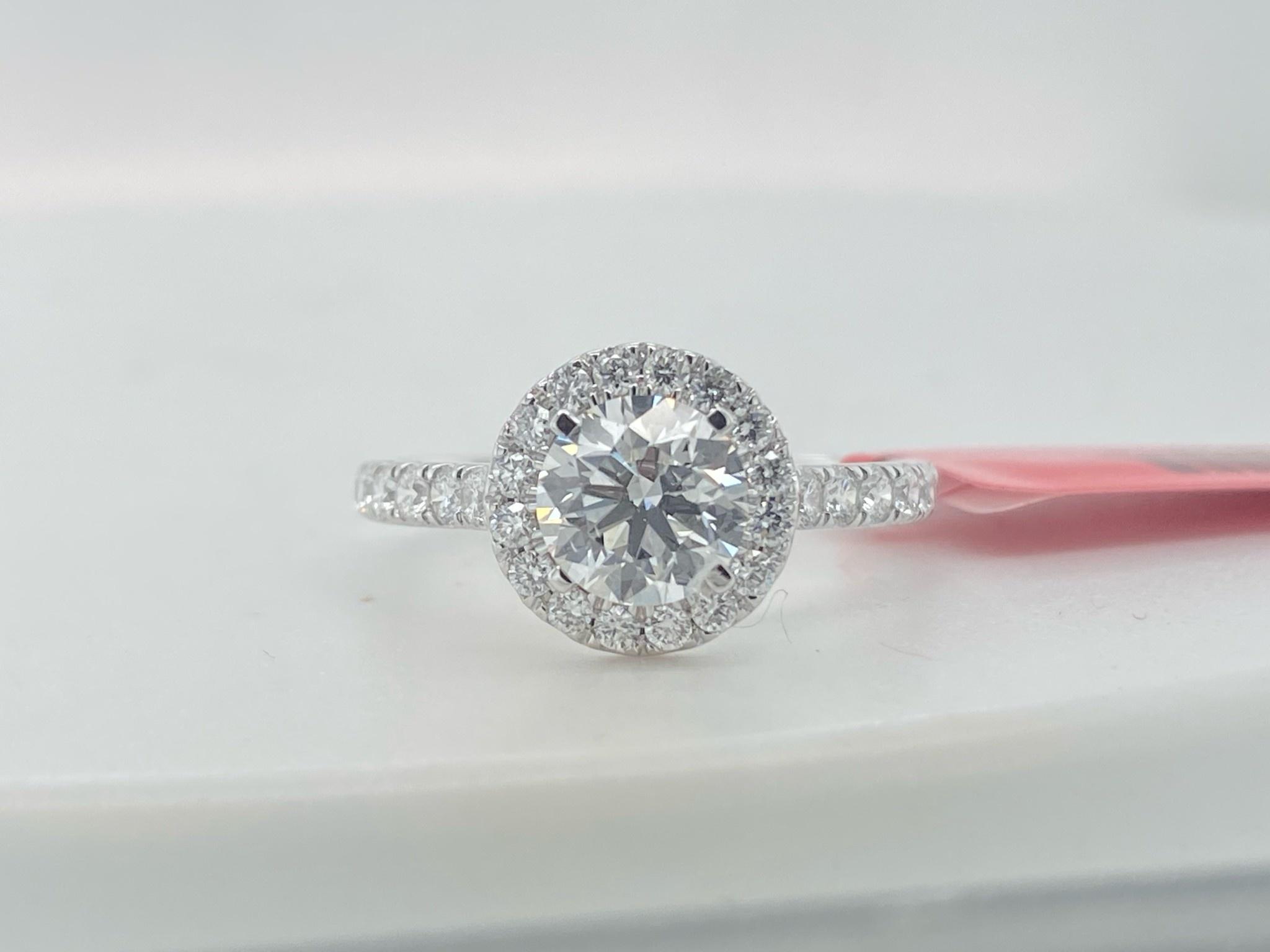 14KW 1.50TW LG Diamond Engagement Ring