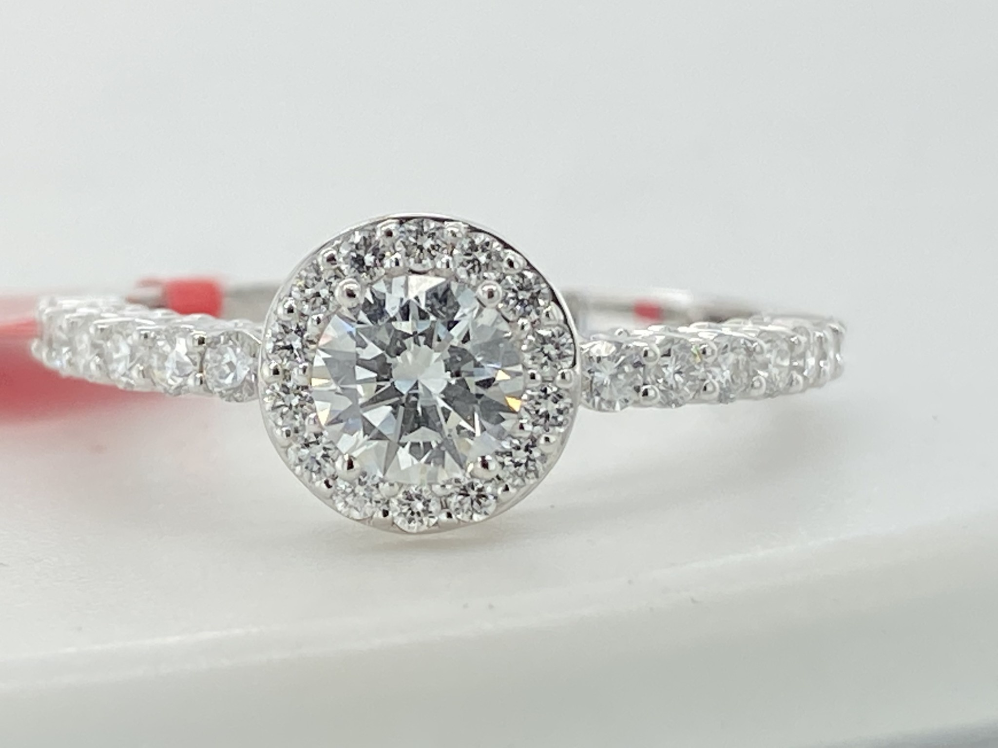 14KW .95TW LG Diamond Halo Engagement Ring