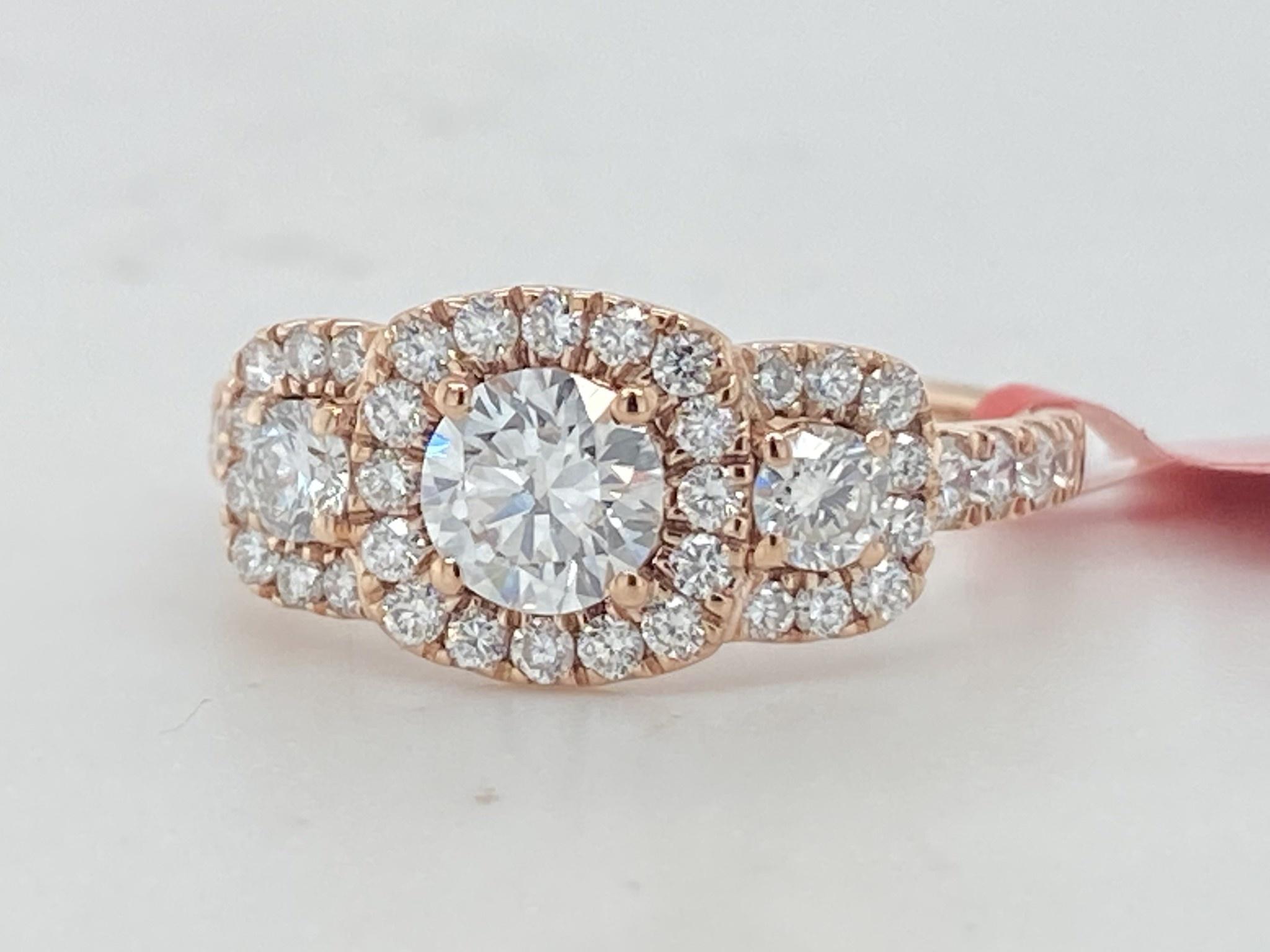 14KR 1.32TW LG Diamond Engagement Ring