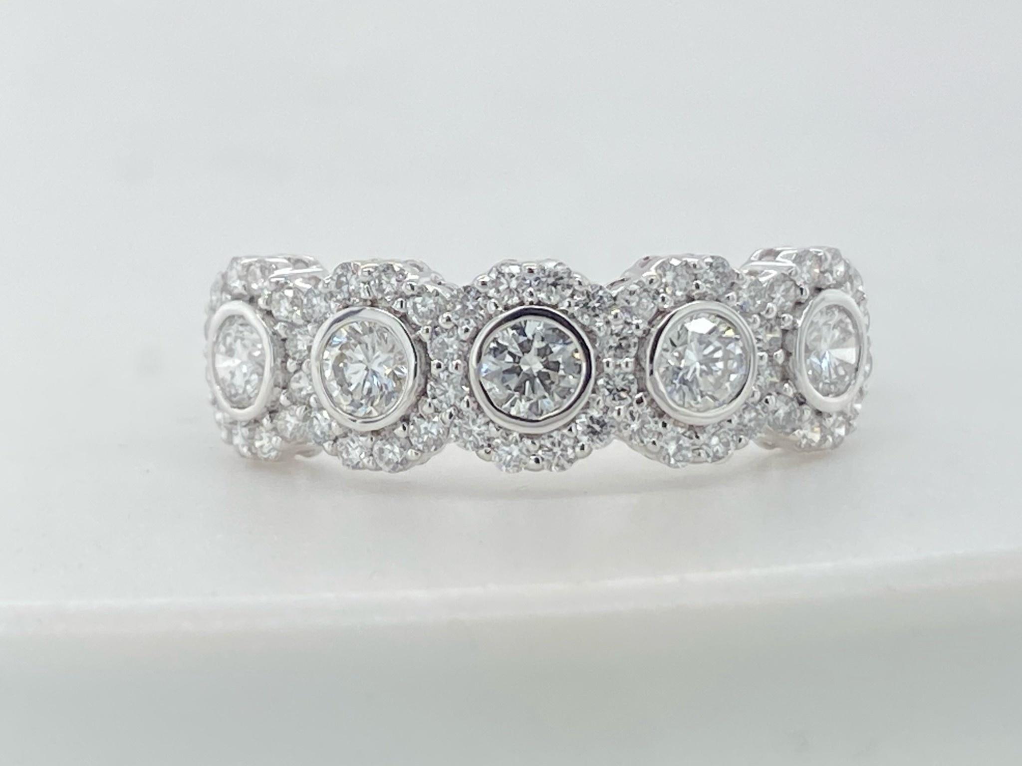 14KW  .75CTTW LG Diamond Fashion Ring