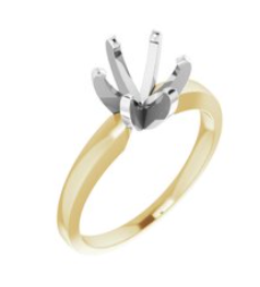 14KY 6 Prong Solitaire Remount