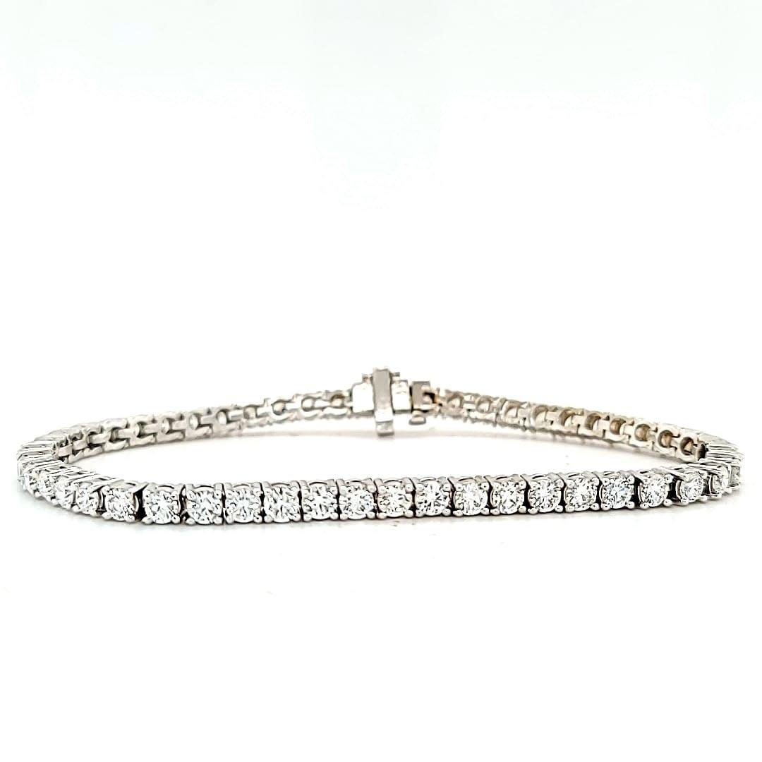 14KW LG Diamond Tennis Bracelet 6.20CTTW