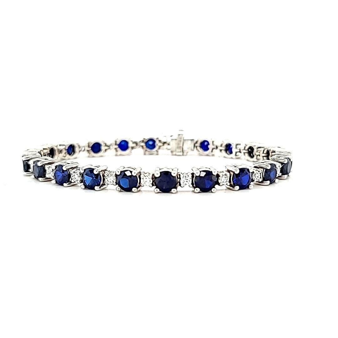 14KW LG Sapphire and LG Diamond Tennis Bracelet