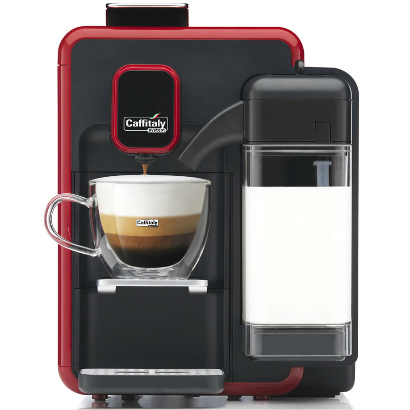 Caffitaly Machine Caffitaly Cappuccina rouge