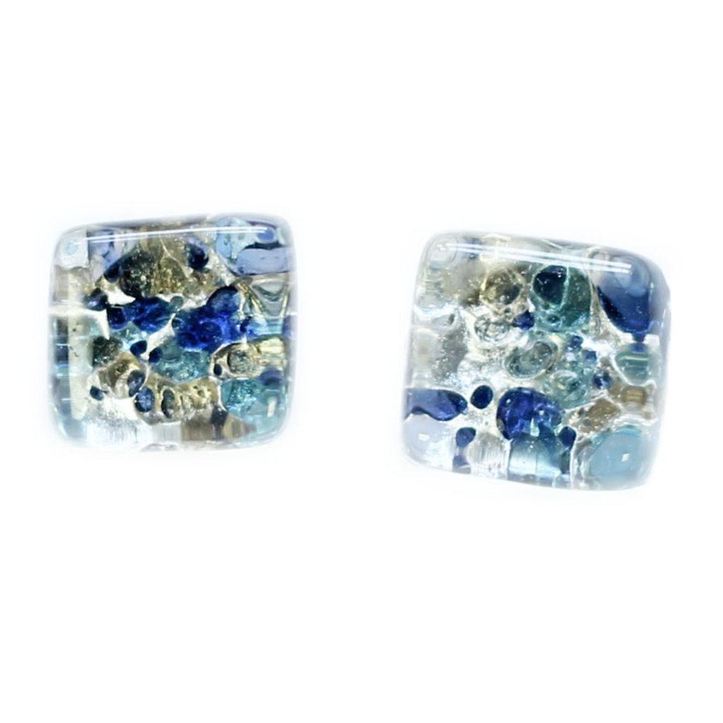 Cré-Art Boucle d'oreille Cré-Art Carré Mixte Bleu