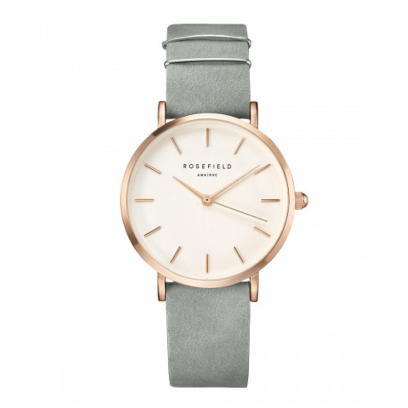 Rosefield Montre Rosefield The West Village Gris menthe - Or rose
