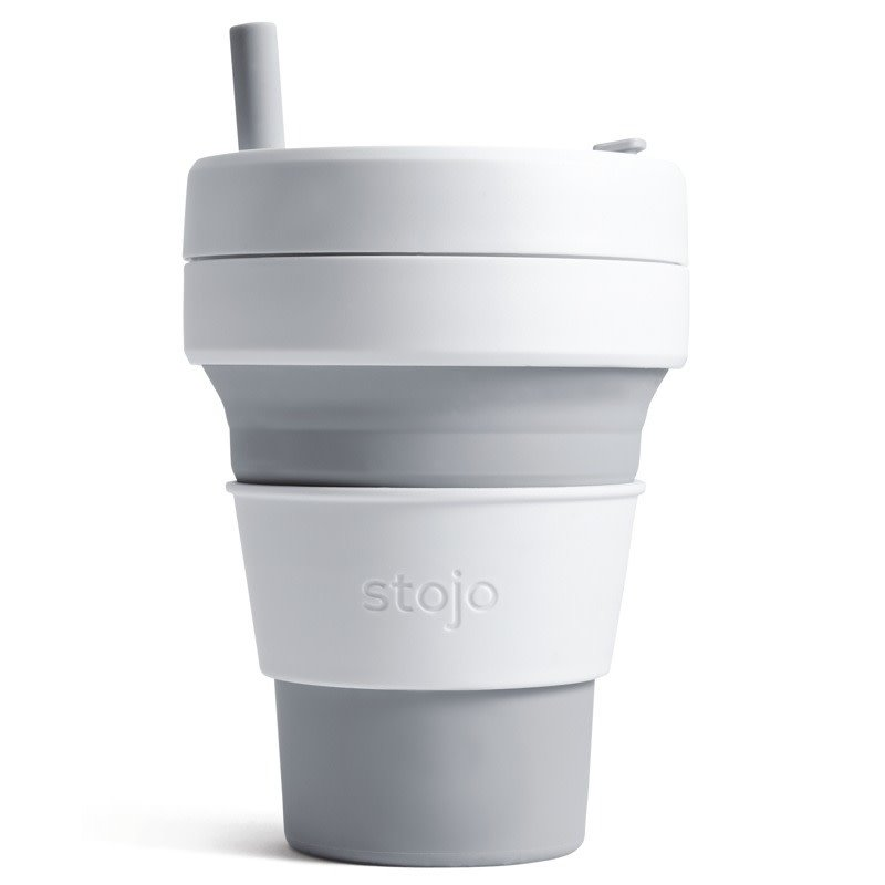 Stojo Tasse Stojo Collapsible Biggie Cup grise
