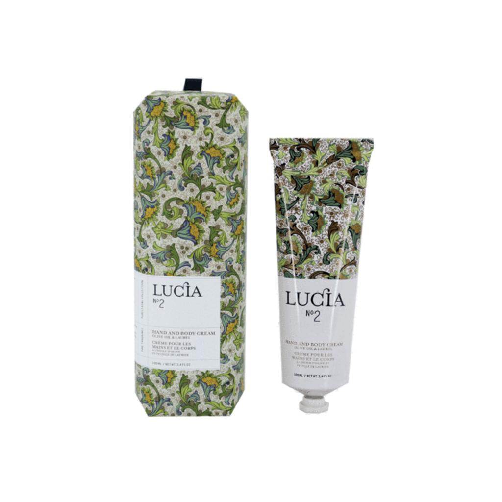 Lucia N°2 Crème pour les mains et le corps Huile d'olive et feuille de laurier Lucia