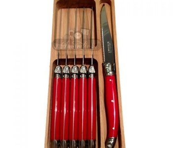 Couteaux Laguiole Rouge Ens.6