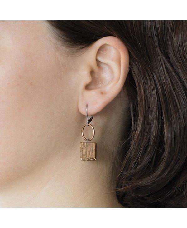 Aissa boucles d'oreilles en bois Anne-Marie Chagnon
