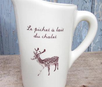 Le pichet à lait du chalet de Weilbrenner & Lebeau