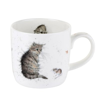Tasse Wrendale by royal worcester cat and mouse