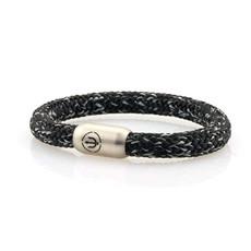 Neptn Bracelet Neptn BOATSWAIN TRIDENT STEEL 8 R Salt-Pepper rope