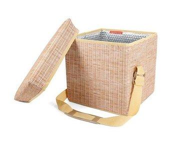 Siège / glacière en osier wicker picnic cooler seat de Kikkerland