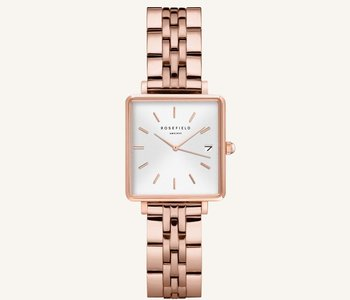 Montre Rosefield The Boxy XS White Rose gold