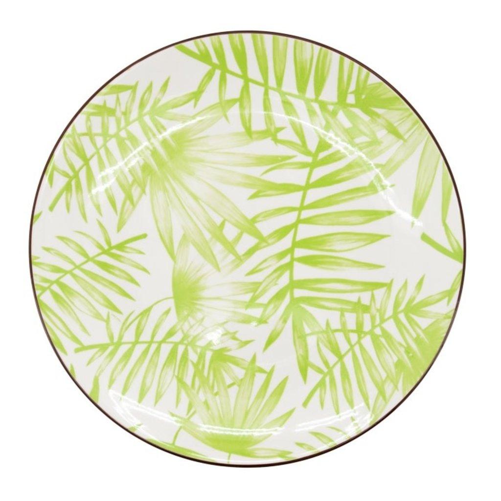 Torre & Tagus Assiette Kiri Porcelain 8.5 Side Plate - Palm Leaf