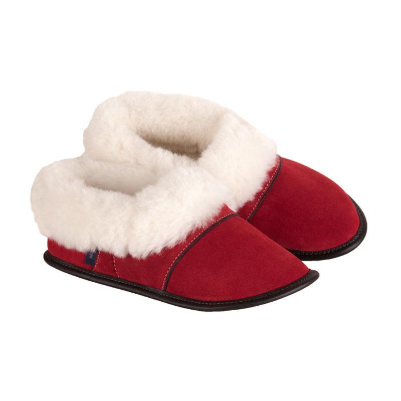 Pantoufles Garneau Pantoufle Garneau,modèle paresseuse rouge pour femme