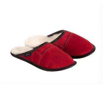 Pantoufle Garneau,modèle mule tout usage rouge pour femme