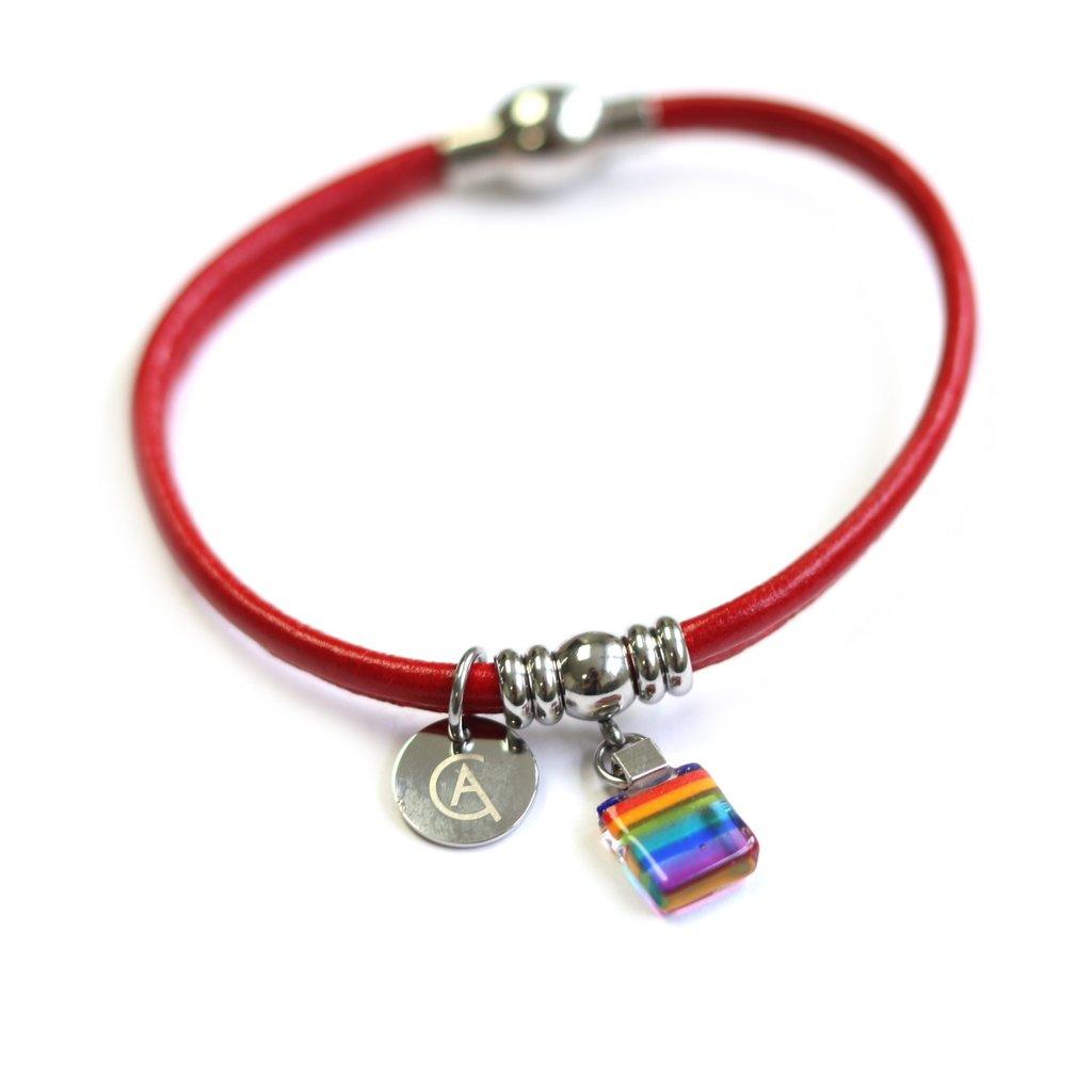 Cré-Art Bracelet Classique « Ça va bien aller » rouge de Créart