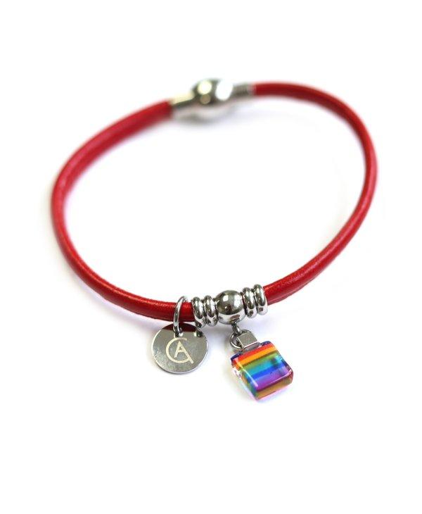 Bracelet Classique « Ça va bien aller » rouge de Créart