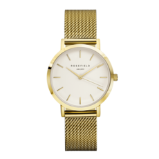 Rosefield Montre Rosefield The Tribeca Blanc Or 33mm