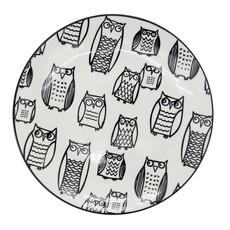 Torre & Tagus Assiette Kiri Porcelain 8.5 Side Plate - Owl Outline
