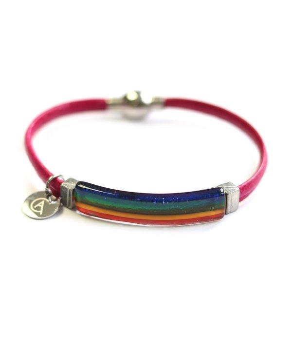 Bracelet Axia « Ça va bien aller » rose de Créart
