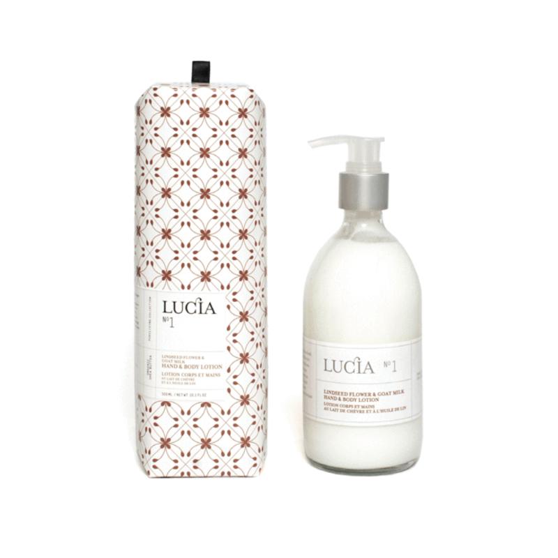 Lucia N°1 Lotion corps et mains au lait de chèvre et à l'huile de lin Lucia