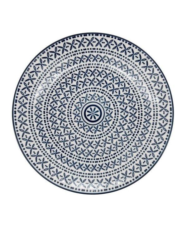 Assiette en porcelaine Kiri 8 Blue Stitch