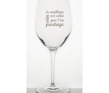 Verre à vin Garçon de Table le meilleur vin est celui que l'on partage