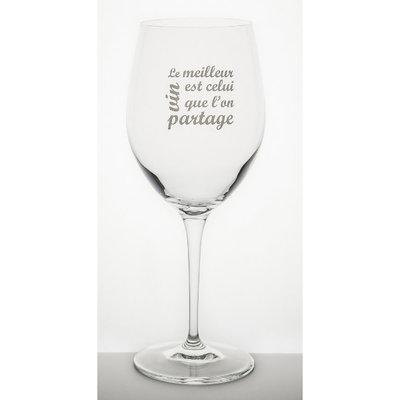 Garçon de Table Verre à vin Garçon de Table le meilleur vin est celui que l'on partage