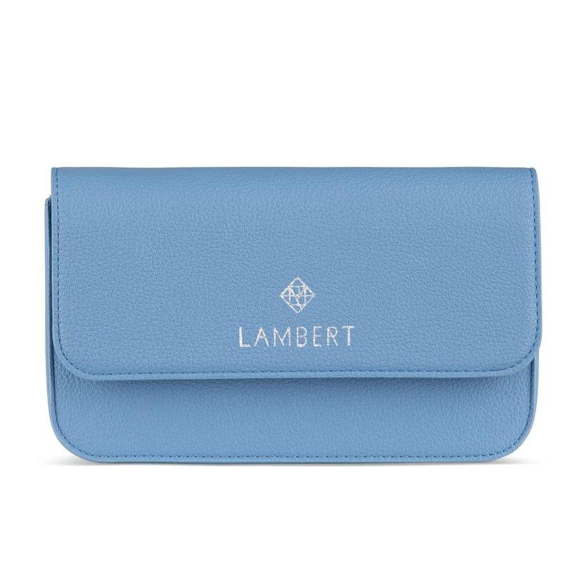 Lambert Sac Lambert 4 en 1 en cuir vegan Gabrielle Bleu Glacier