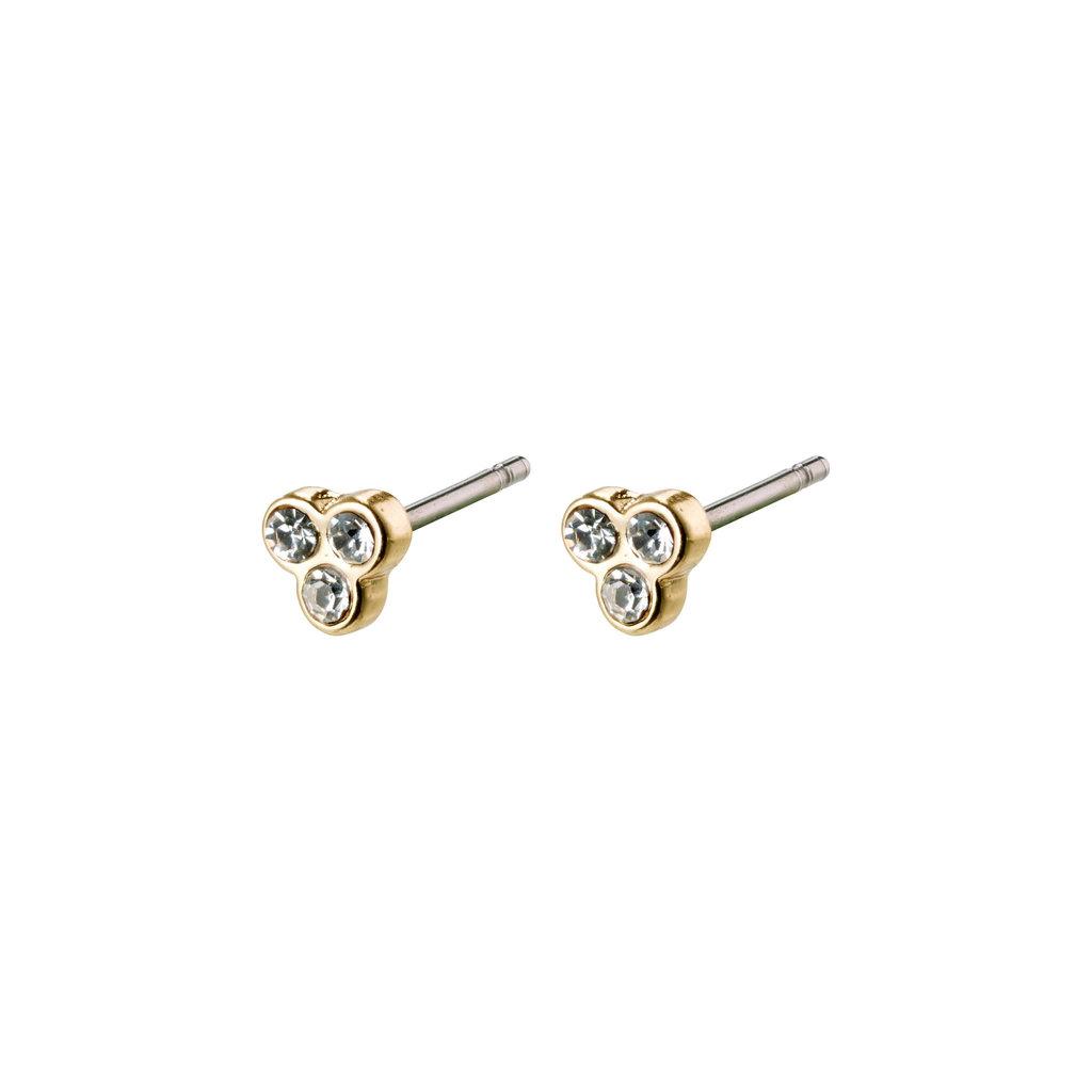 Pilgrim Petites boucles d'oreilles cristal Pilgrim Caily or