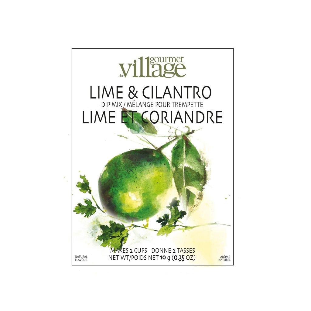 Mélange à trempette lime et coriandre gourmet village (10g)