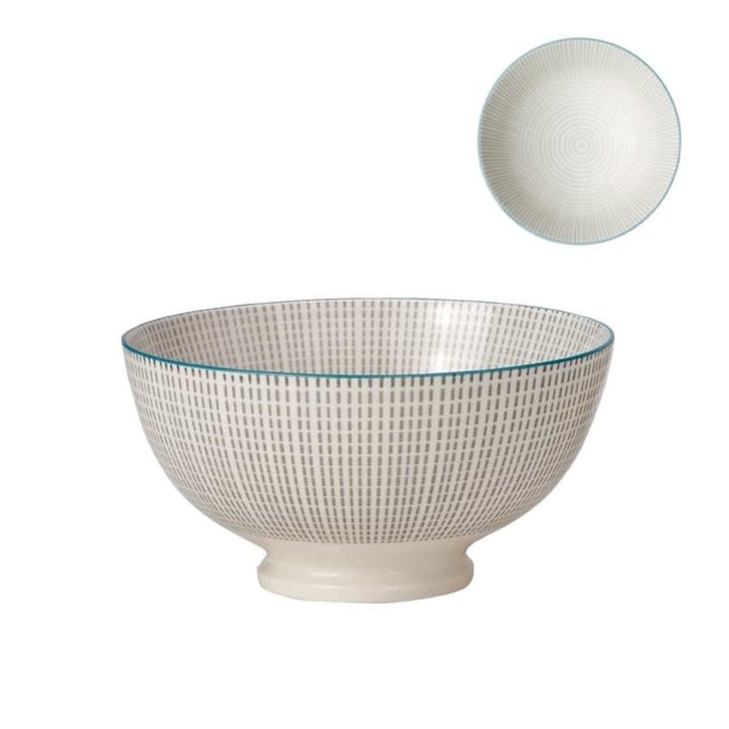 Torre & Tagus Bol de porcelaine Kiri 6 grey with blue trim