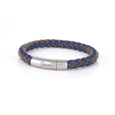 Neptn Bracelet Neptn Sailor Pro Steel 8L Oceanblue en cuire