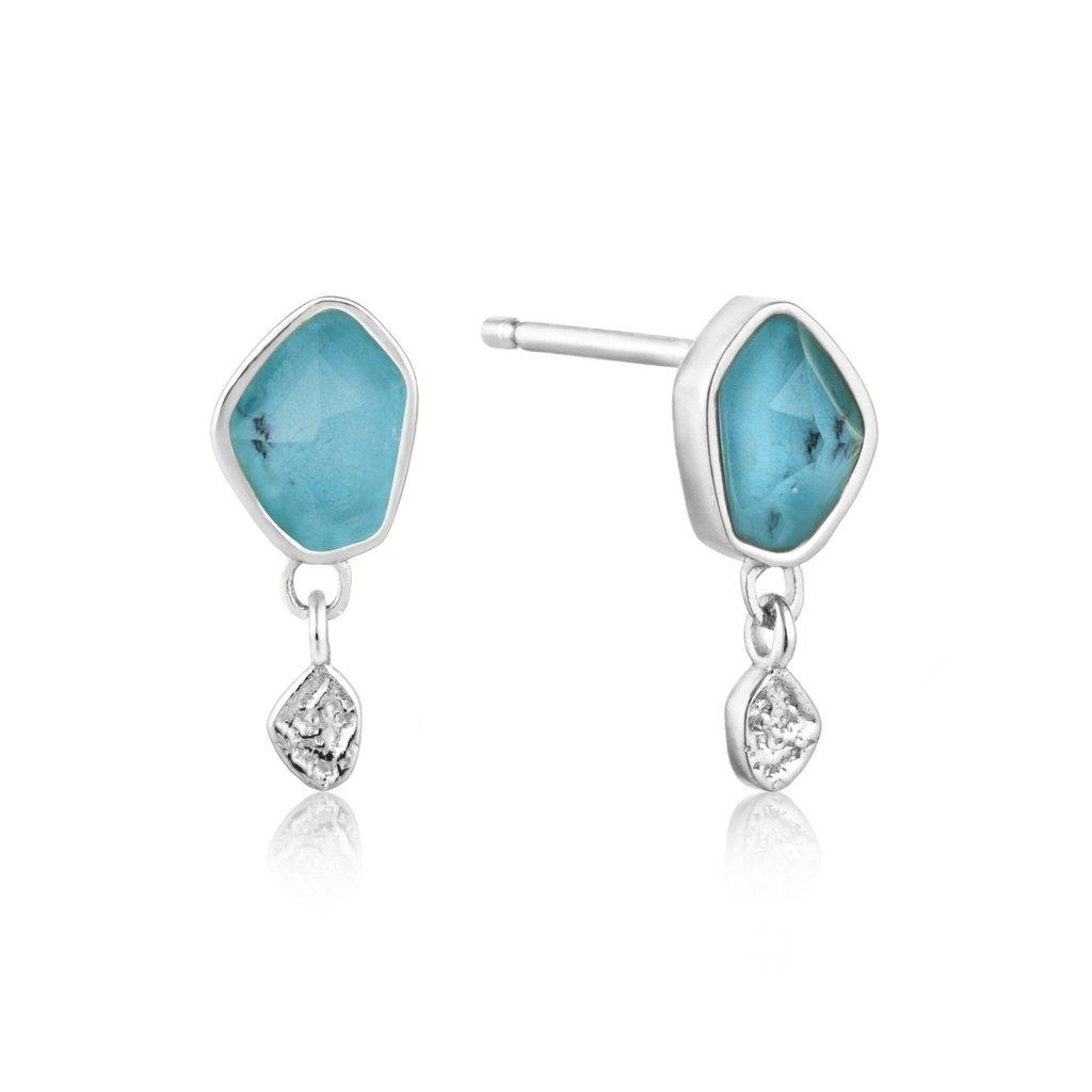 Ania Haie Boucles d'oreilles Ania Haie Turquoise Drop Silver Stud