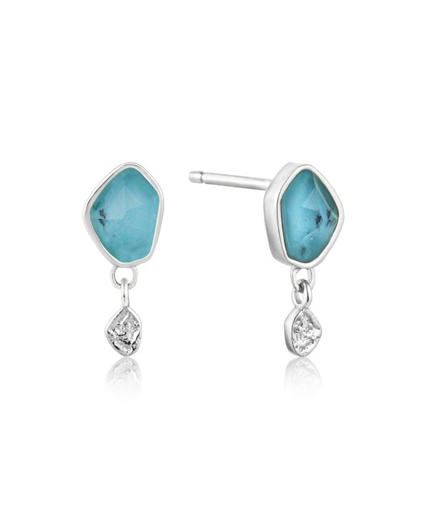 Boucles d'oreilles Ania Haie Turquoise Drop Silver Stud